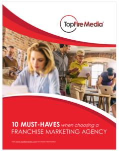 Ebook cover: 10 Must-haves When Hiring a Franchise Marketing Agency